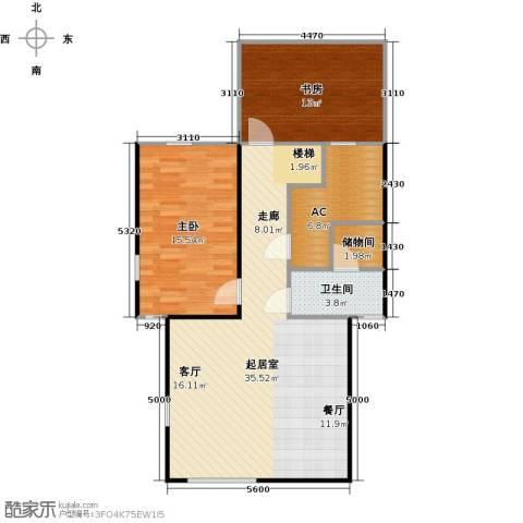 合生天戴河2室0厅1卫0厨103.00㎡户型图