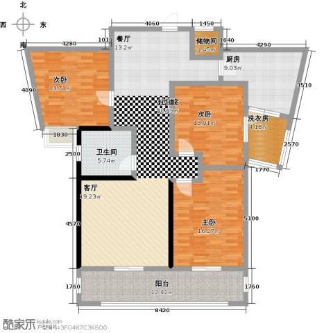 上海公馆3室0厅1卫1厨136.00㎡户型图