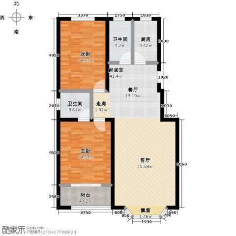 莲花山庄2室0厅2卫1厨125.00㎡户型图