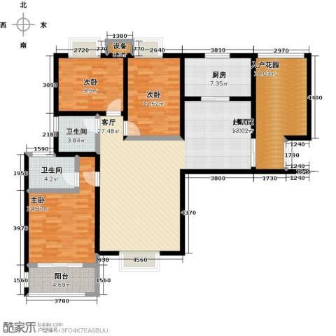 高速仁和盛庭3室0厅2卫1厨129.00㎡户型图