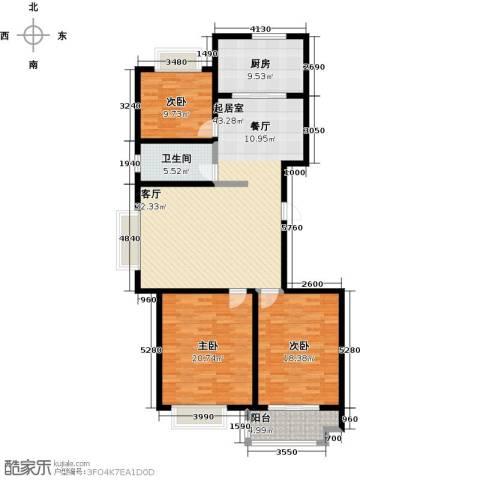 高速仁和盛庭3室0厅1卫1厨120.00㎡户型图