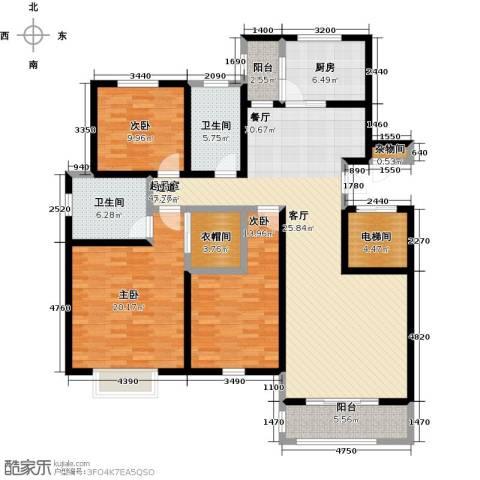 高速仁和盛庭3室0厅2卫1厨146.00㎡户型图