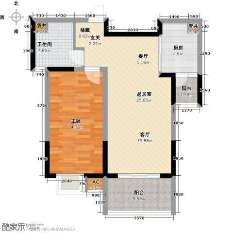 中星怡景花园1室0厅1卫1厨60.00㎡户型图