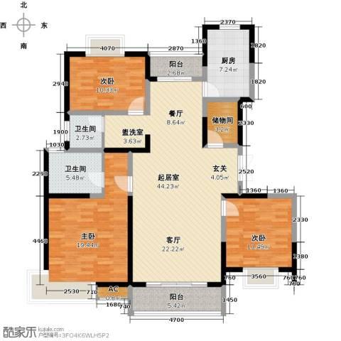 中星怡景花园3室0厅2卫1厨130.00㎡户型图