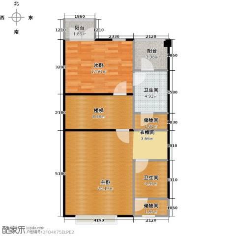合生天戴河2室0厅2卫0厨87.00㎡户型图