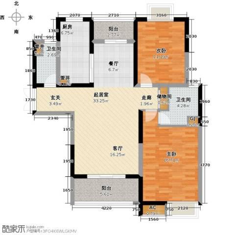 中星怡景花园2室0厅2卫1厨90.00㎡户型图