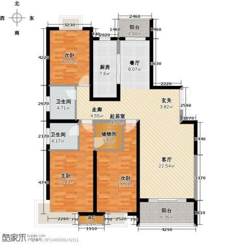 中星怡景花园3室0厅2卫1厨140.00㎡户型图