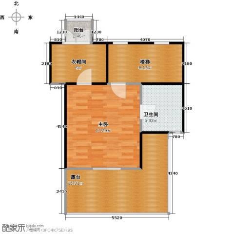 合生天戴河1室0厅1卫0厨72.00㎡户型图