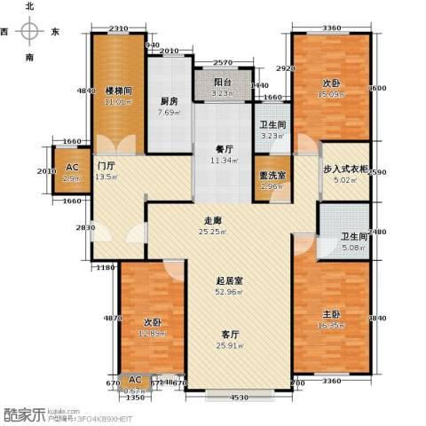 奥泰格林山水城3室0厅2卫1厨165.00㎡户型图