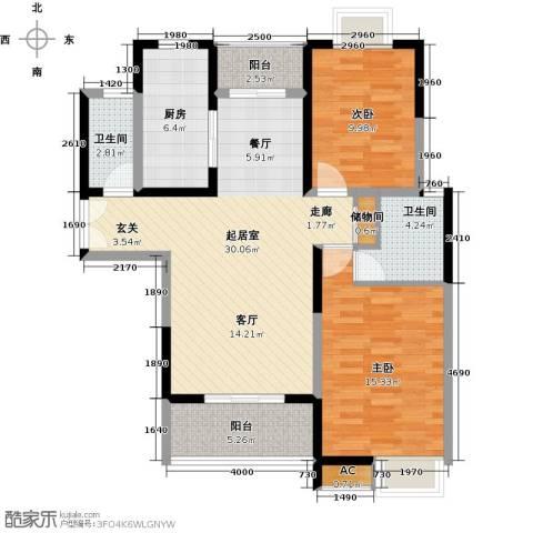 中星怡景花园2室0厅2卫1厨100.00㎡户型图