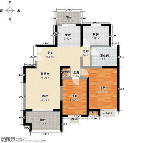 中星怡景花园2室0厅1卫1厨110.00㎡户型图