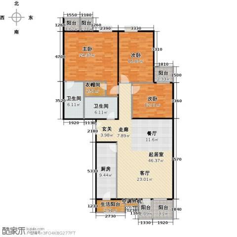城市出品3室0厅2卫1厨163.00㎡户型图