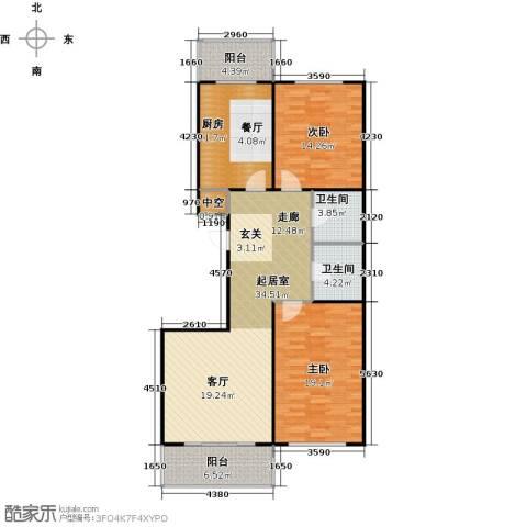 康居新城2室0厅2卫1厨133.00㎡户型图