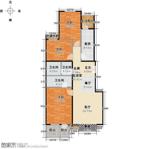 城市出品3室0厅3卫1厨129.00㎡户型图