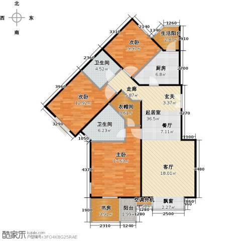 城市出品4室0厅2卫1厨136.00㎡户型图