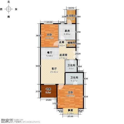 城市出品3室0厅2卫1厨102.00㎡户型图