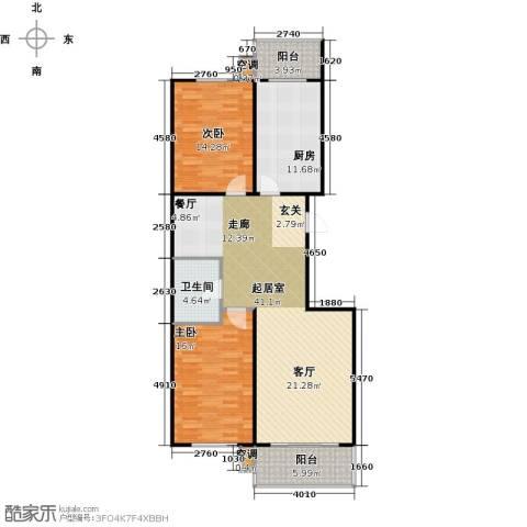 康居新城2室0厅1卫1厨132.00㎡户型图