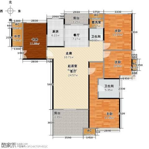 蓝光名仕公馆4室0厅2卫1厨144.00㎡户型图