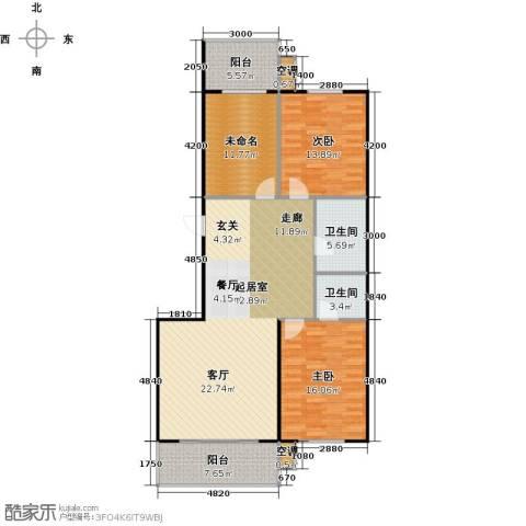 康居新城2室0厅2卫0厨144.00㎡户型图