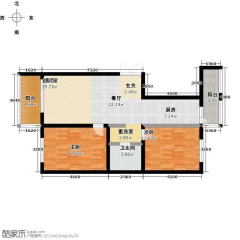 哈尔滨提拉米苏2室0厅1卫0厨70.91㎡户型图