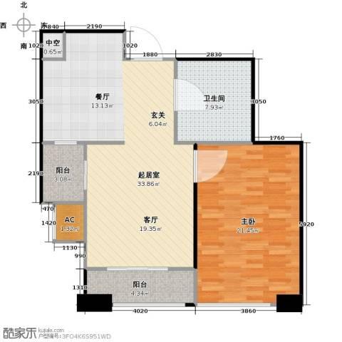 大连天地・悦翠台Style1室0厅1卫0厨72.63㎡户型图