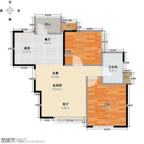 大连天地・悦翠台Style2室0厅1卫0厨82.00㎡户型图