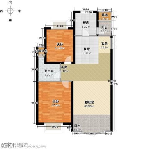 中南世纪花城2室0厅1卫1厨103.64㎡户型图
