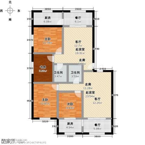 金坤新城花苑4室2厅2卫2厨115.66㎡户型图