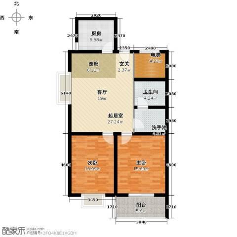 阳光公寓2室0厅1卫1厨92.00㎡户型图