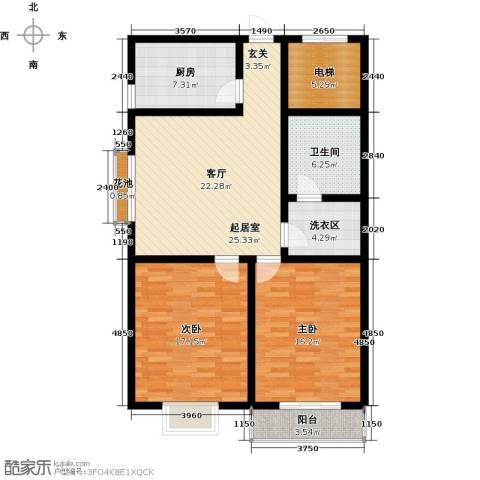 阳光公寓2室0厅1卫1厨99.33㎡户型图