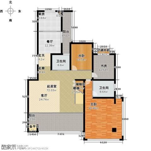 香江帝景3室0厅2卫1厨223.00㎡户型图