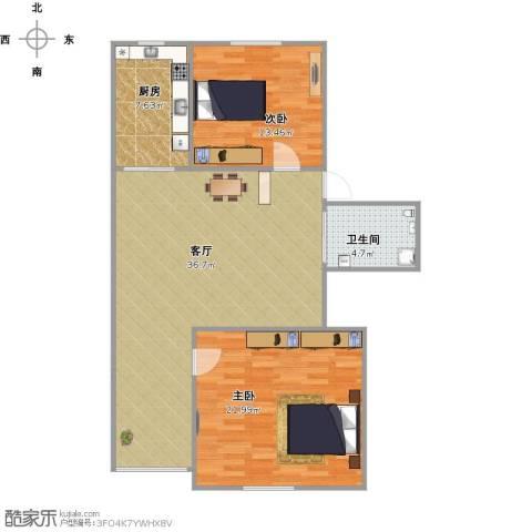 天通苑东一区2室1厅1卫1厨112.00㎡户型图