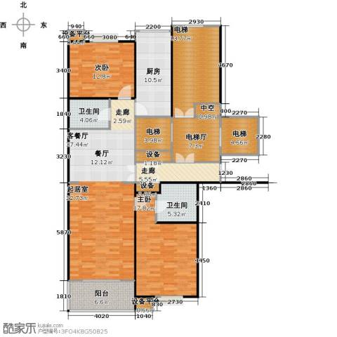 都市节奏2室1厅2卫1厨133.71㎡户型图