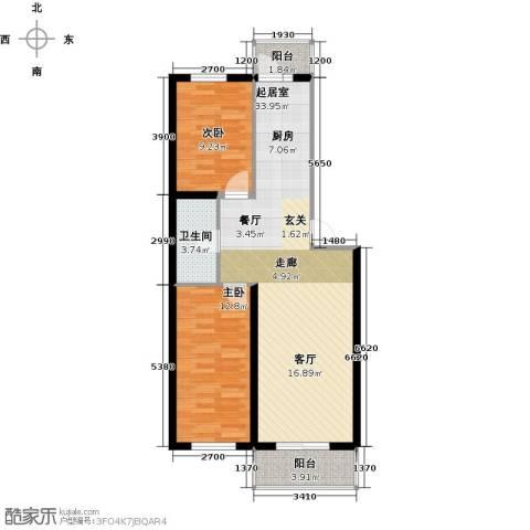 联通名苑2室0厅1卫0厨83.00㎡户型图