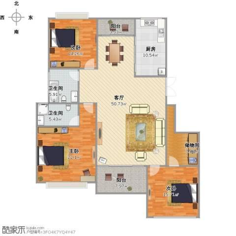 多蓝水岸银沙苑4室2厅2卫1厨191.00㎡户型图