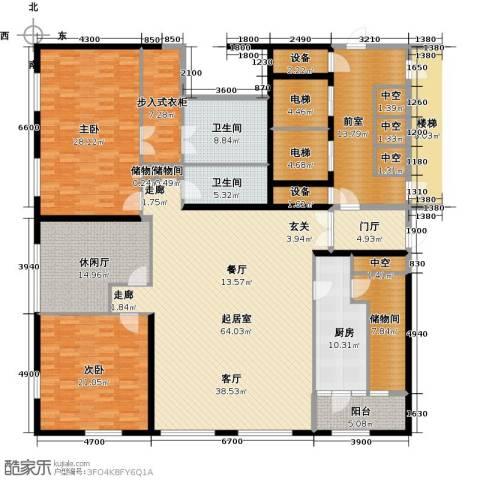 US联邦公寓2室0厅2卫1厨226.00㎡户型图