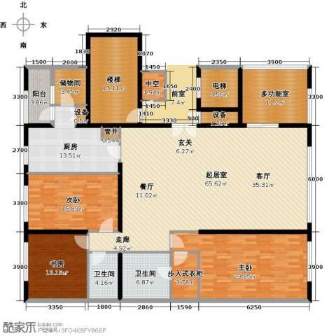 US联邦公寓3室0厅2卫1厨224.00㎡户型图