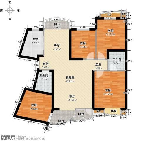 俪晶阁4室0厅2卫1厨114.46㎡户型图