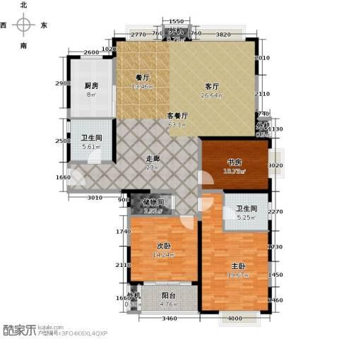 万里双子座3室1厅2卫1厨148.00㎡户型图