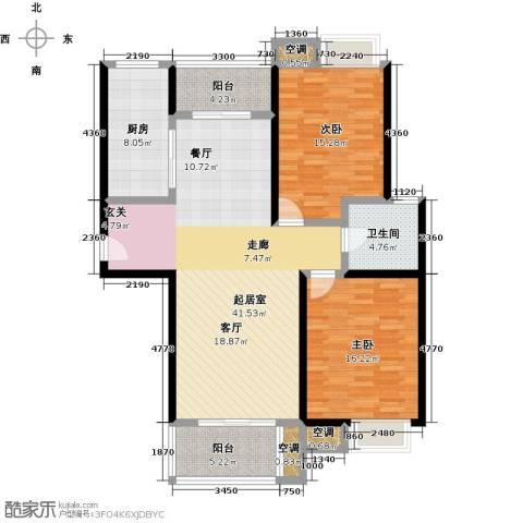 万里晶品苑2室0厅1卫1厨140.00㎡户型图