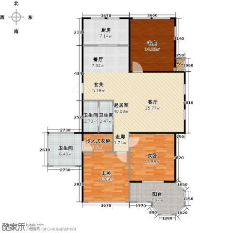 莫奈的花园3室0厅3卫1厨120.00㎡户型图