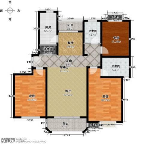 金沙嘉苑3室1厅2卫1厨130.00㎡户型图