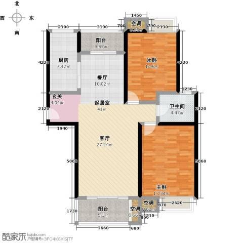 万里晶品苑2室0厅1卫1厨110.00㎡户型图