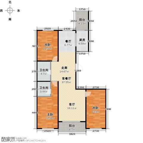 碧水云天颐园3室1厅2卫1厨133.00㎡户型图