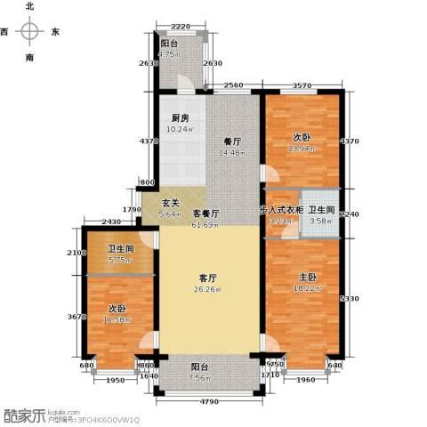 群力观江国际3室1厅2卫0厨170.00㎡户型图