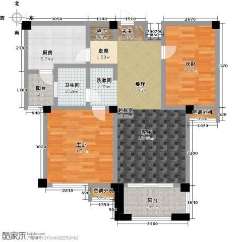 兆地尊庭2室0厅1卫1厨83.00㎡户型图