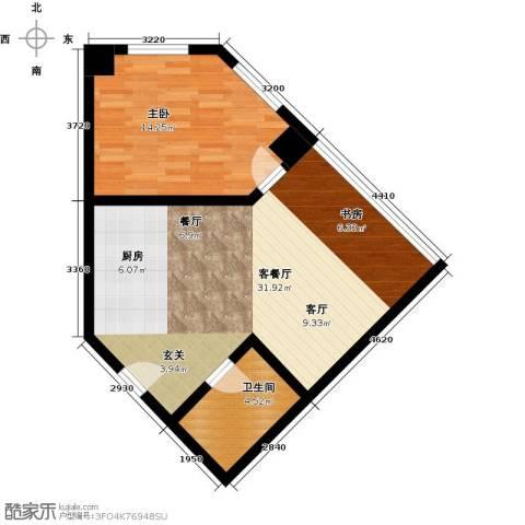 秀东尚座1室1厅1卫0厨58.00㎡户型图