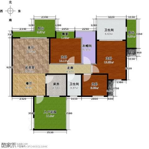 三亚水三千3室0厅2卫1厨108.00㎡户型图