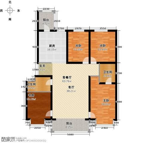 群力观江国际4室1厅2卫0厨187.00㎡户型图