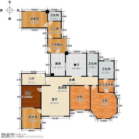 华润外滩九里3室0厅3卫1厨307.00㎡户型图